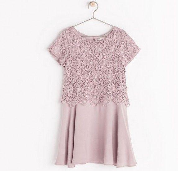 Zara Bambini collezione autunno inverno 2014 2015: i Look per Fashion Kids Zara Bambini collezione autunno inverno 2014 2015 abito