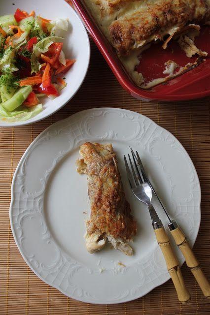 Nesrin's Küche: Überbackene Palatschinken mit Hähnchen und Bechame...
