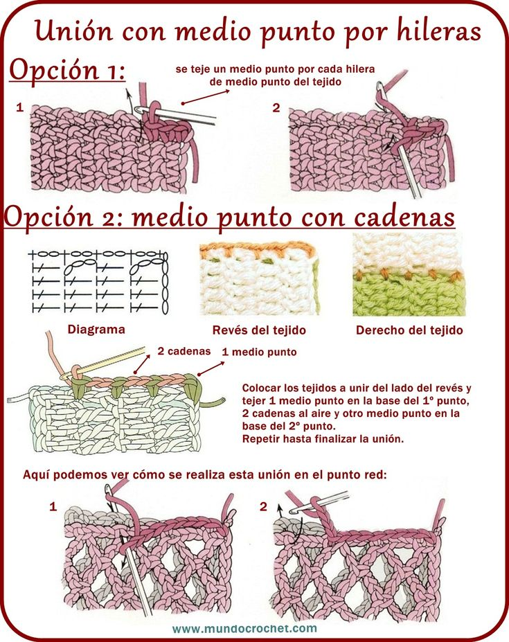 Uniones en crochet ✿⊱╮Teresa Restegui http://www.pinterest.com/teretegui/✿⊱╮