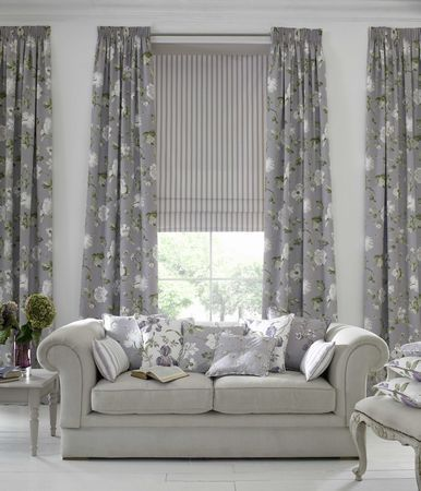 Best Amazing Living Room Curtain Ideas For Large Windows Flower Patterned Picture Window Treatment Curtains Design Interior