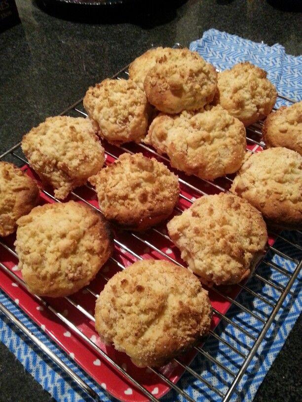 Handmade apple scone