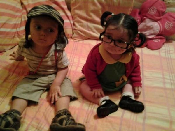 Chaves e Chiquinha crianças.