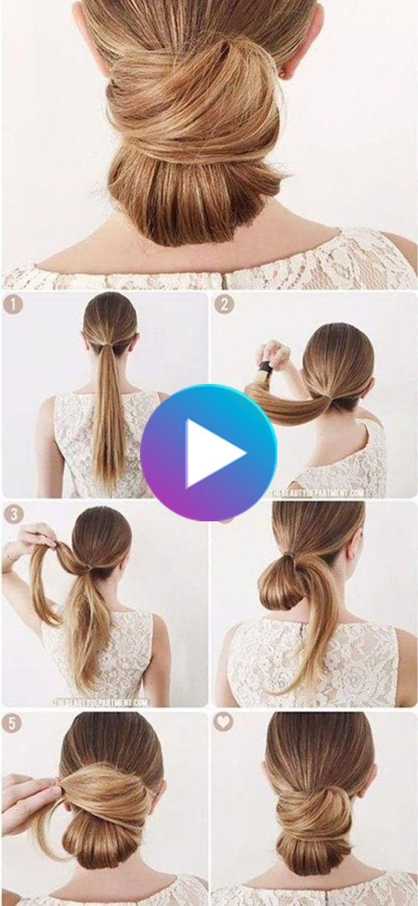 Gorgeous Office Hairstyle Tutorials That Will Make You Look Professional At Work Office Hairstyles Hair Tutorials Easy Low Bun Hairstyles