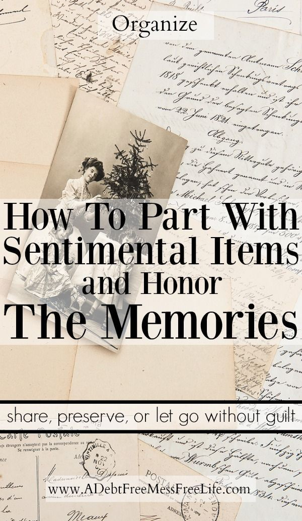 Do you have sentimental items cluttering up your house?  If you're not sure if you should clean them out and give them away or keep them, this post will show you what to do without an ounce of guilt.