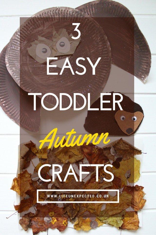 3 Easy Toddler Autumn Crafts