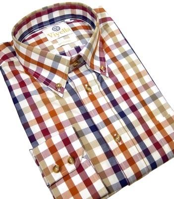 Paprika Check Long Sleeve Shirt from Viyella