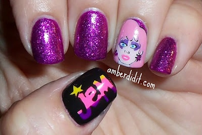 Jem and the Holograms: Jem And The Hologram Nails, Outrag Nails, Nails Art Polish, Hologram Amazingnaildesign, Love It, Hologram Amazing Nails Design, Jem And The Hologram Makeup, Jem Nails, Taylors Nails