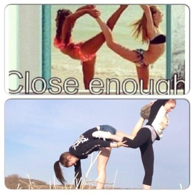 MondayCures  CLICK AND SEE THE PIC... Try to do the infinity pose: end up with pi