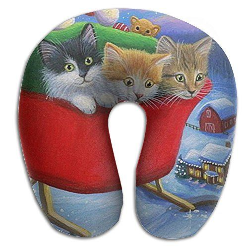 christmas kittens cozy neck pillow travel pillow neck support plane pillow neck pillow for sleeping read more at the image link