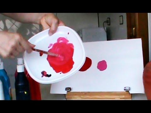 MEZCLAR COLORES. Cómo conseguir diferentes rojos. Mix colors. Red. - YouTube