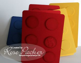 Lego Cards.  Let's make it quick! : Rose's Blog