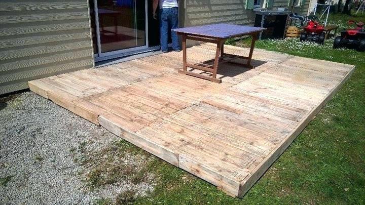 Deck Out Of Pallets Wood Pallet Decks Deck Plans Home Design 7