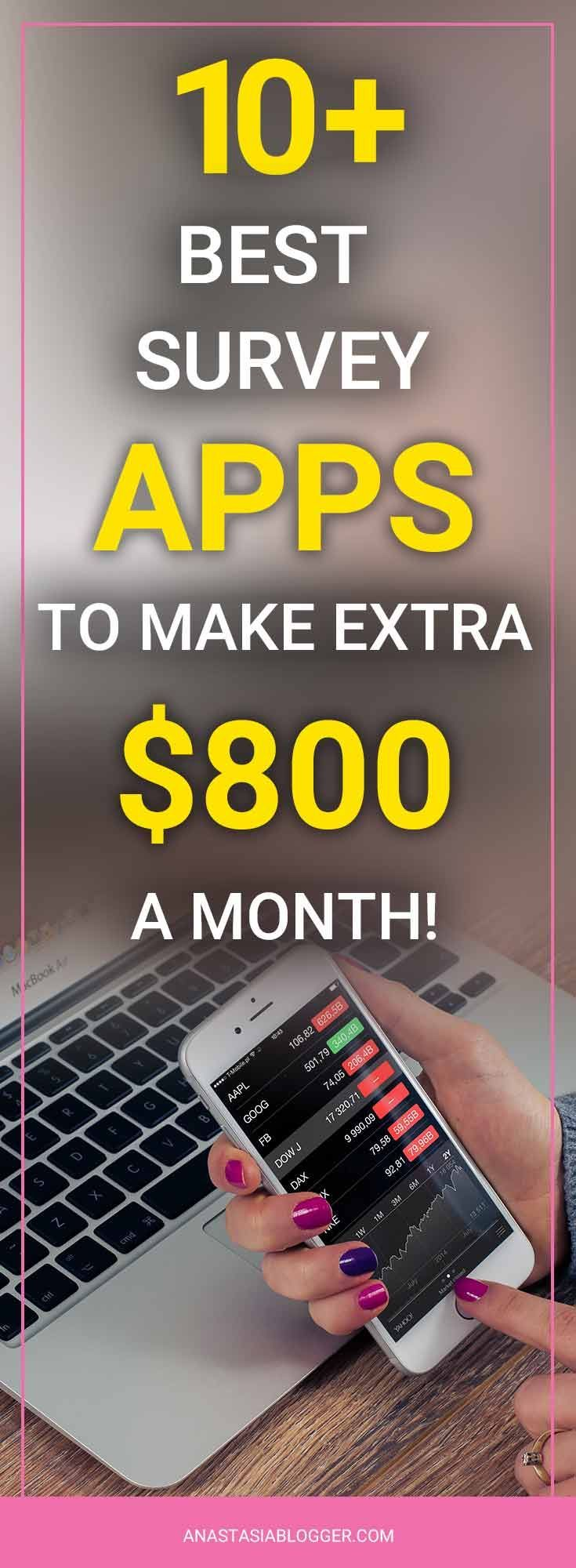 Wanna know how she makes $800 a month from her smartphone? Check the list of Survey Apps that pay, install survey apps extra money. You'll find here survey apps that pay gift cards, survey apps that pay extra cash, survey apps that pay smartphone, survey