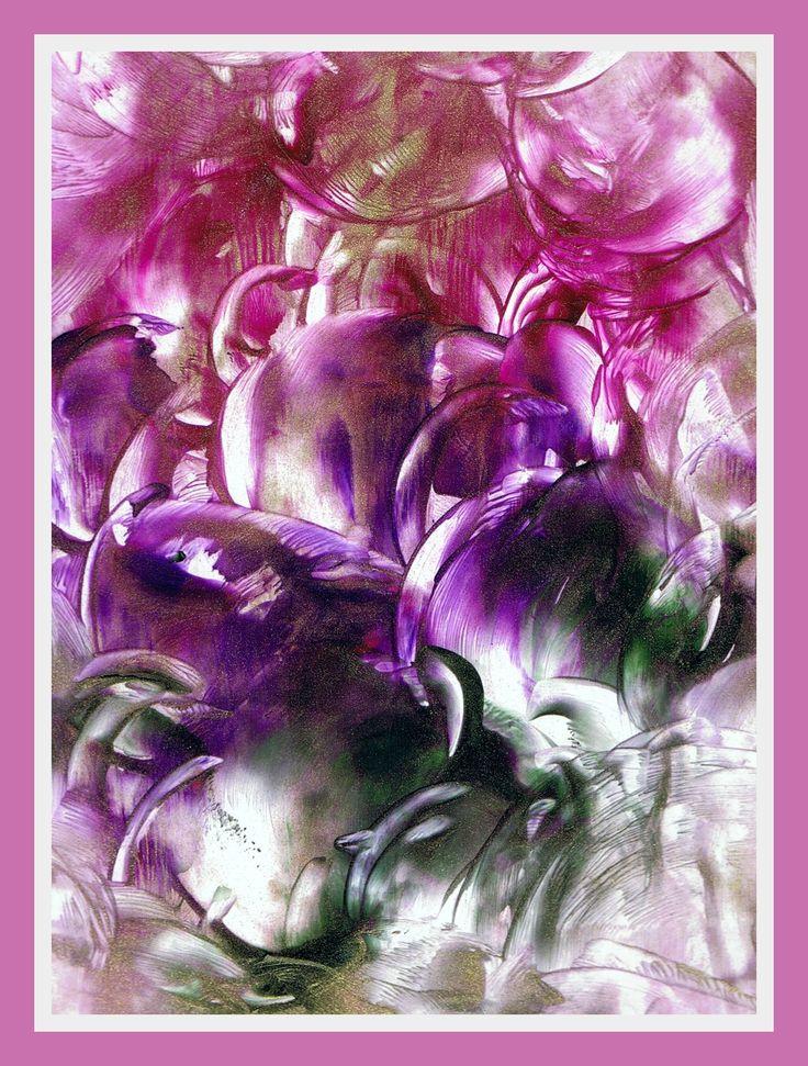Bloemen geschilderd met bijenwas door Beika Kruid