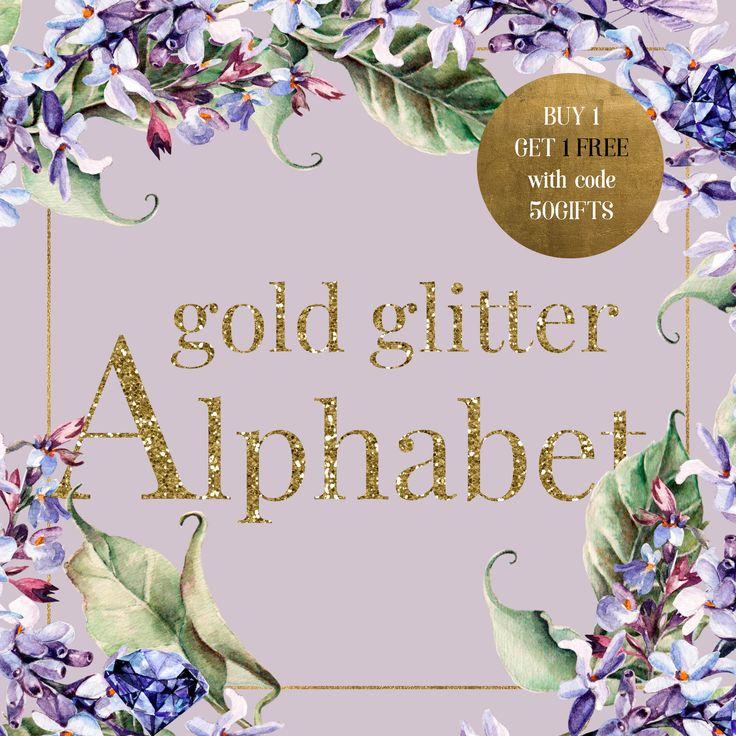 Gold Glitter Alphabet Gold Alphabet Alphabet ClipArt Gold