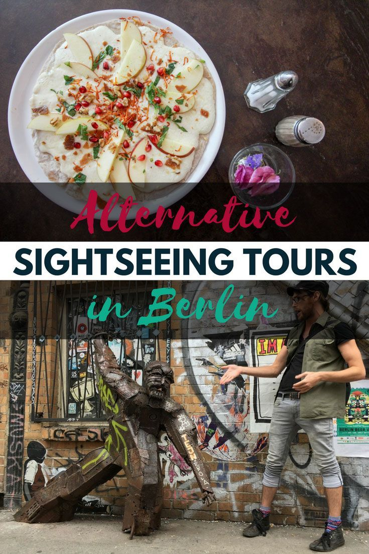 Tasting the food and exploring the street art is just as important as seeing the sights of a city. Berlin has to offer a lot of alternative sightseeing tours - So make your visit unique by exploring Berlin differently! #berlin #germany