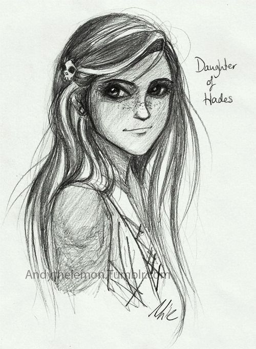 Andythelemon: Bianca Di Angelo I like the way Riordan chose to juxtapose her warm face & kindness with dark, mysterious eyes like her father. On Etsy