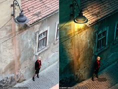 In this tutorial I will teach you how to edit in photo in Lightroom and Photoshop to dramatically alter its appearance and mood. We'll change a broad daylight scene into a night-time one, lit by a street lamp. I'll also take the opportunity to describe some non-destructive editing techniques in Photoshop.