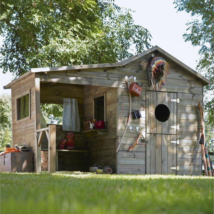 13 best cabane jardin images on Pinterest DIY, Children and Play - plan maisonnette en bois