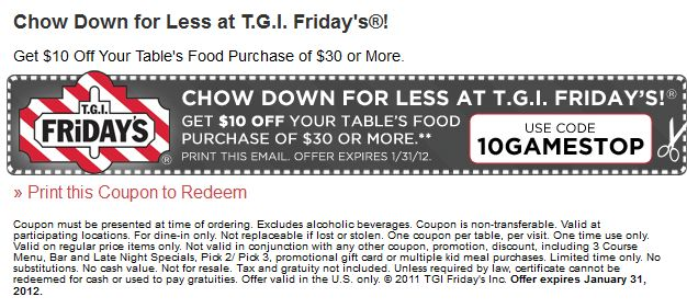 graphic relating to Fridays Printable Coupon titled Printable discount codes for tgif cafe