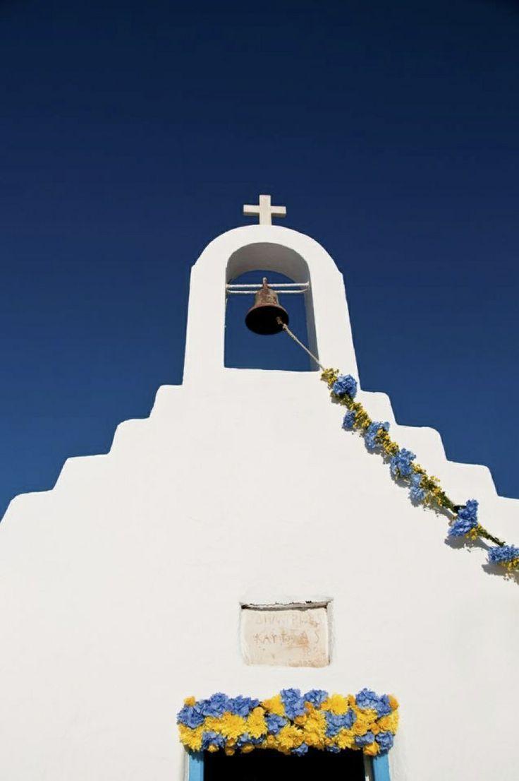 Traditional Orthodox Church...When Brazil Meets Mykonos… Wedding @ Alemagou Mykonos