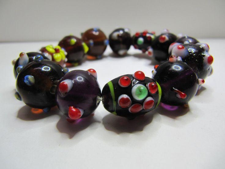 Ulgy Bug Bracelet, Stretch Bracelet, Glass Beads, One size. Christmas Gift, Secret Santa, Unique Gift. by BobbyandMeSew on Etsy
