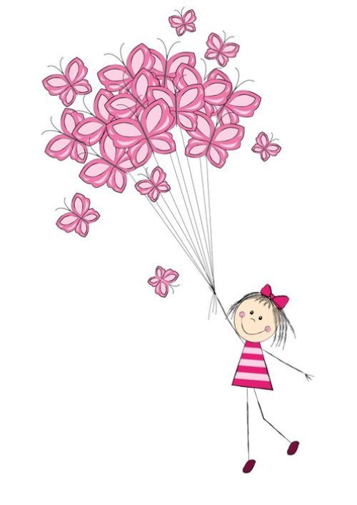 Float up, up and away with this beautiful 'Butterfly Balloons' art print. #WallArtPrints #Kids #Art #Balloons