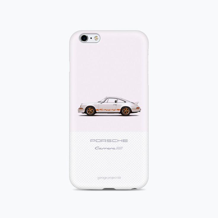 1973 Porsche 911 Carrera RS (White) illustration iPhone 6, 6S Case