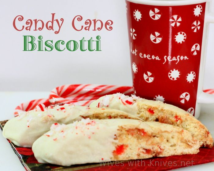 Candy Cane Biscotti ~ Merry Christmas   Wives with Knives