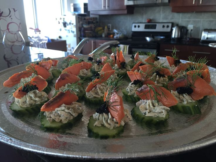 Smoked salmon and caviar cups with Chef Justin Scott