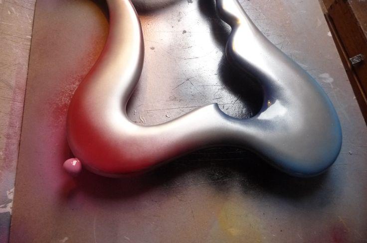 Modern ART mirror frame from Etsy's FUNKYMIRRORS..!