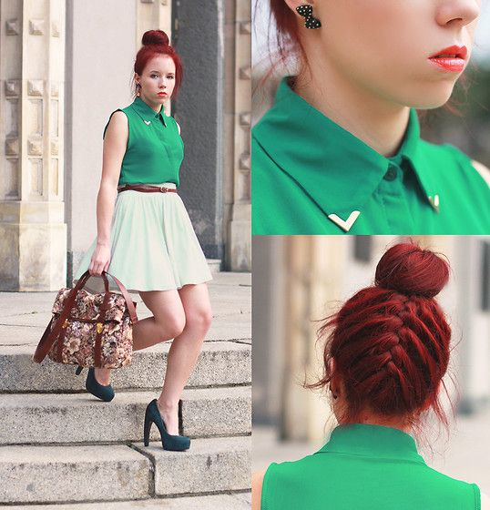 Almost total green... why not ? (by Wioletta Mary Kate) http://lookbook.nu/look/3836095-almost-total-green-why-not: Classy Outfit, Women S Fashion, Emerald Green, Clothing, Hairstyle Ideas, Fashion Inspiration, Hair Color