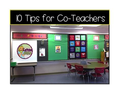 Co-Teaching tips - 10 Tips to a Successful Experience!
