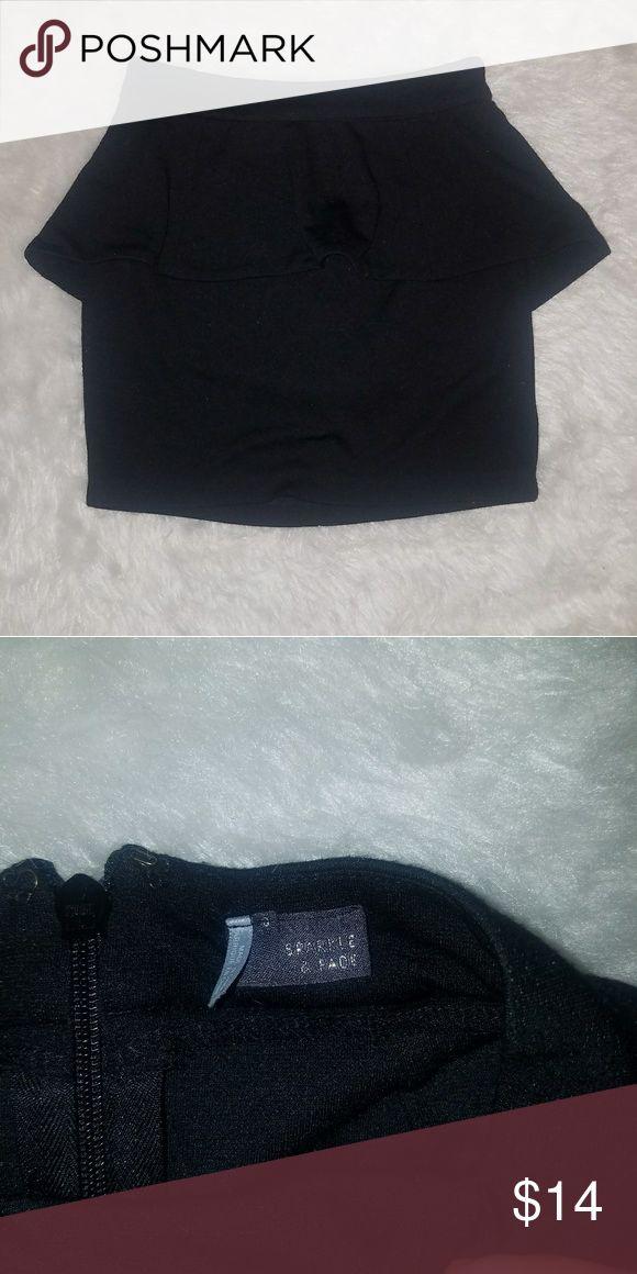 Black Peplum Skirt Cute black Peplum skirt, EUC Sparkle & Fade Skirts Mini