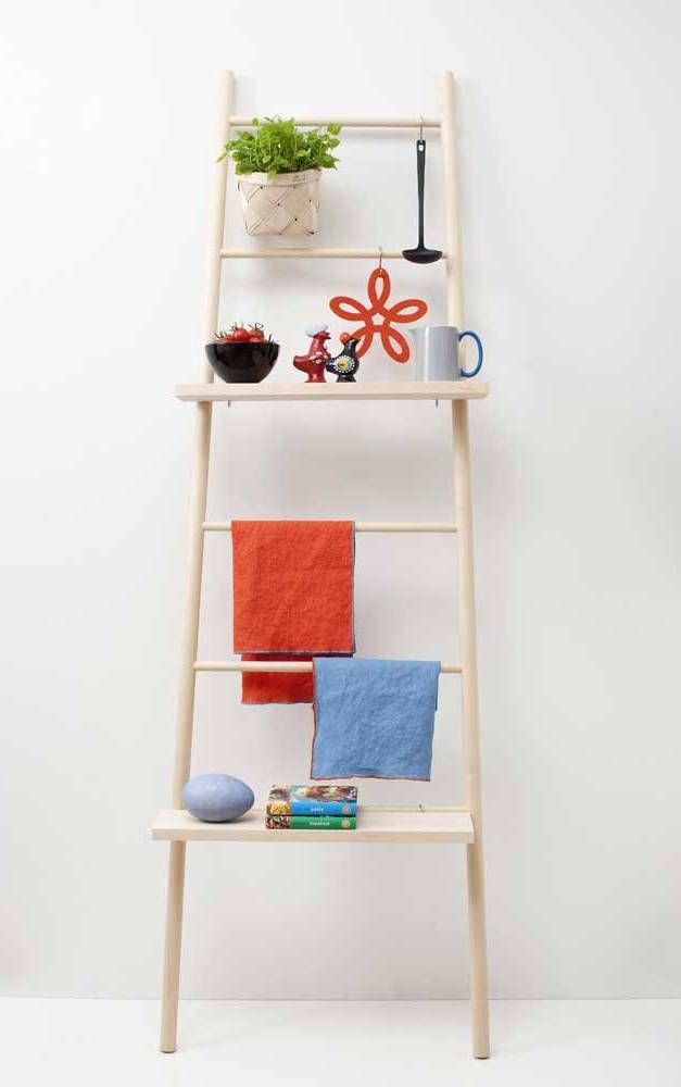 Verso Tikas Birch Wood Ladder | Finnish Design | www.homearama.co.uk | #verso #versodesign #wallladder #ladder #homeaccessories #finnishdesign