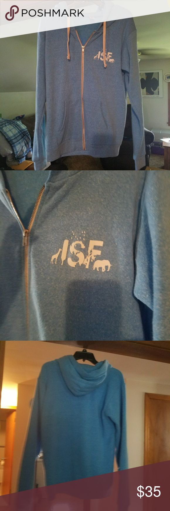 ISF Ian somerhalder foundation hoodie Brand new and never worn. Its like an extra soft and fuzzy material. So comfy. Runs slightly big. Itll def fit a medium but can alsocfit a large as well. So cute. Bought from a comvention in new jersey. There selling for 65 online. Tops Sweatshirts & Hoodies