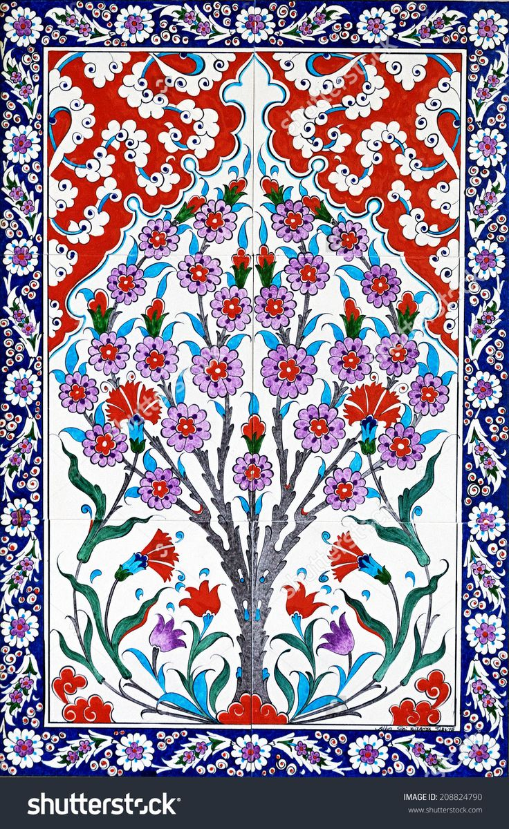 Ceramic Tiles Patterns From Turkey Stok Fotoğrafı 208824790 : Shutterstock