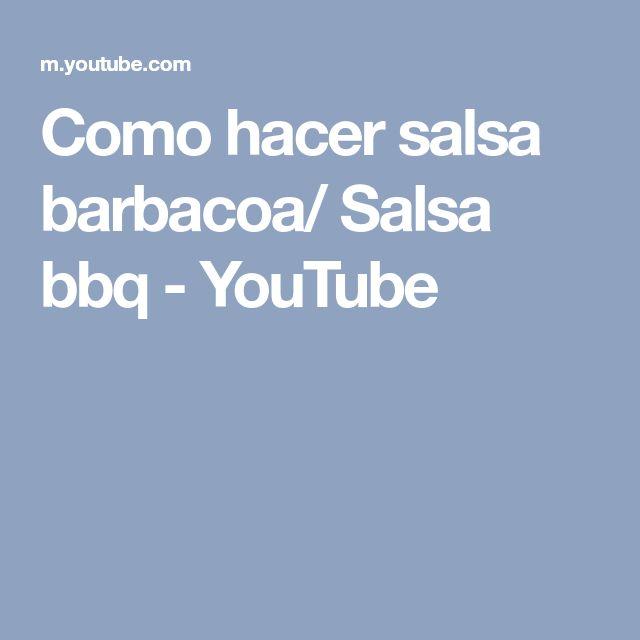 Como hacer salsa barbacoa/ Salsa bbq - YouTube