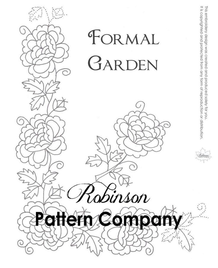 Formal Garden Hand Embroidery pattern