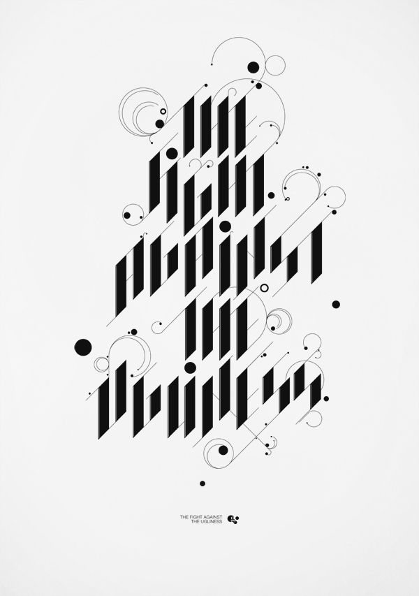 """""""The light against the ugliness"""" – TYPOGRAPHY by MARTIN GROHS, via Behance"""