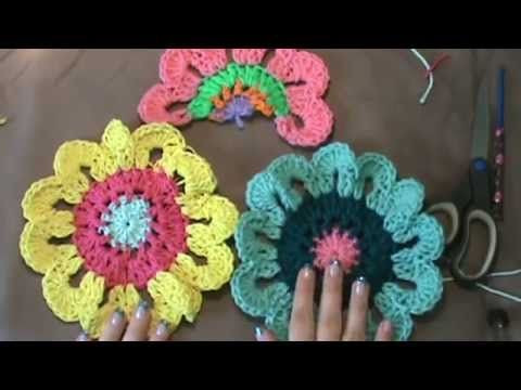 Use of this pattern approved by Crochet Artist & Designer of this pattern...Robin Sanchez..Her link is below. http://onceuponapinkmoon.blogspot.mx/2013/05/fl...