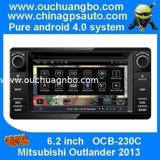 Ouchuangbo audio dvd sat navi radio Mitsubishi Outlander 2013 pure android 4.0 S150 platfo from China