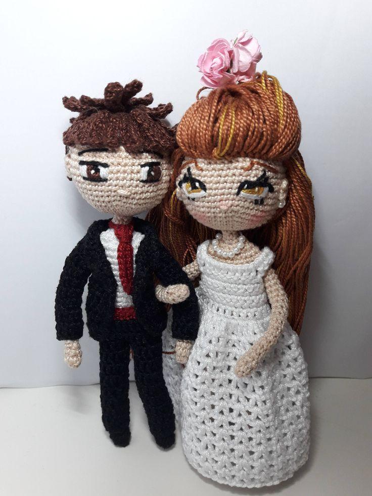 Amigurumi doll,doll crochet , toys crochet,doll, doll amigurumi,Boyfriends amigurumi, doll amigurumi, boy amigurumi, wedding, amigurumi doll de naimacrochethandmade en Etsy
