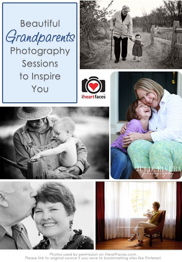 10+ Beautiful Grandparent Photos! Grandparents Day Photography Inspiration iHeartFaces.com #photos