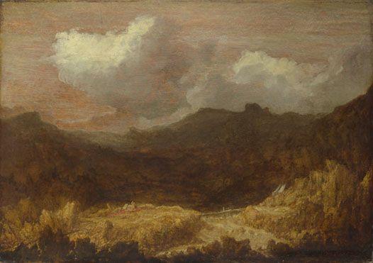 'A Mountainous Landscape' - early 17th century, Imitator of Hercules Segers