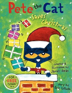 @Overstock - When Santa falls ill and Christmas may have to be canceled, Pete the cat saves the day.http://www.overstock.com/Books-Movies-Music-Games/Pete-the-Cat-Saves-Christmas-Hardcover/6524036/product.html?CID=214117 $11.29
