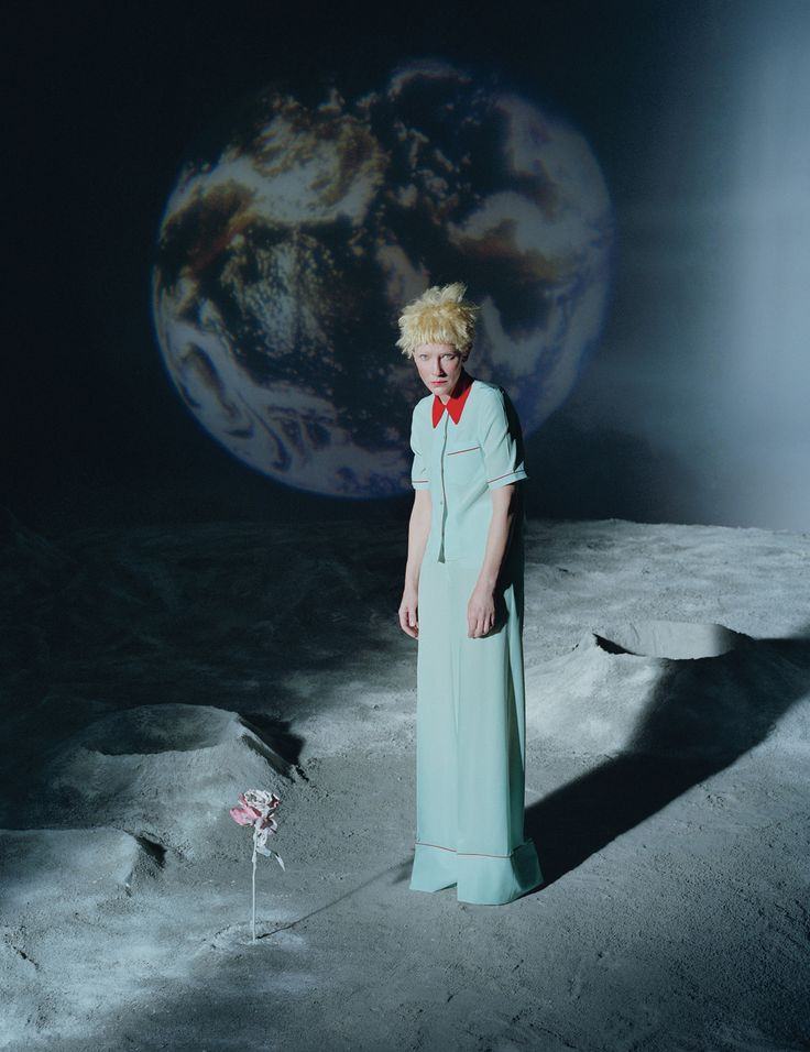 Perfectly Chic Cate Blanchett - Cate Blanchett by Tim Walker for W Magazine December/January 2015/2016 - Prada pyjamas