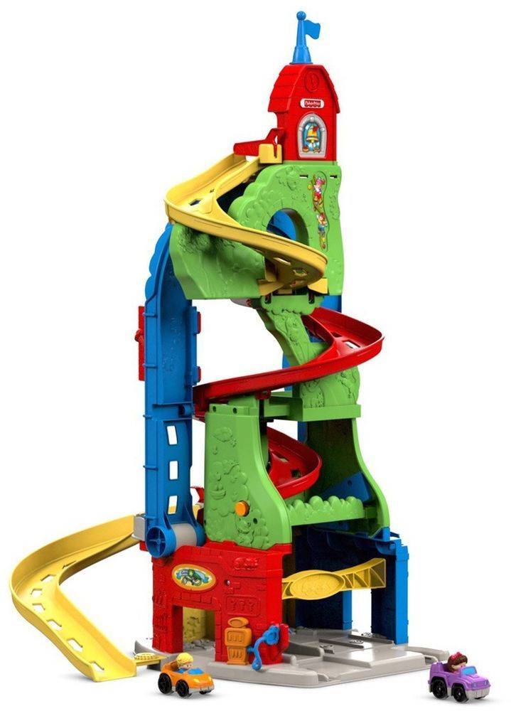 Fisher-Price SKYWAY Car Track Sit 'n Stand Little People Toddler Toy Playset NEW #FisherPrice