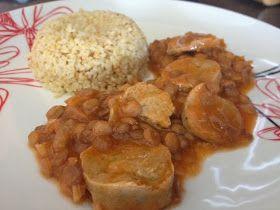 bulgur-com-estufado-de-lentilhas-verdes e tofu