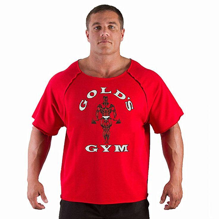 Men's T Shirts Golds Fitness Men Bodybuilding Gorilla Wear Shirt Batwing Sleeve Rag Tops #Affiliate